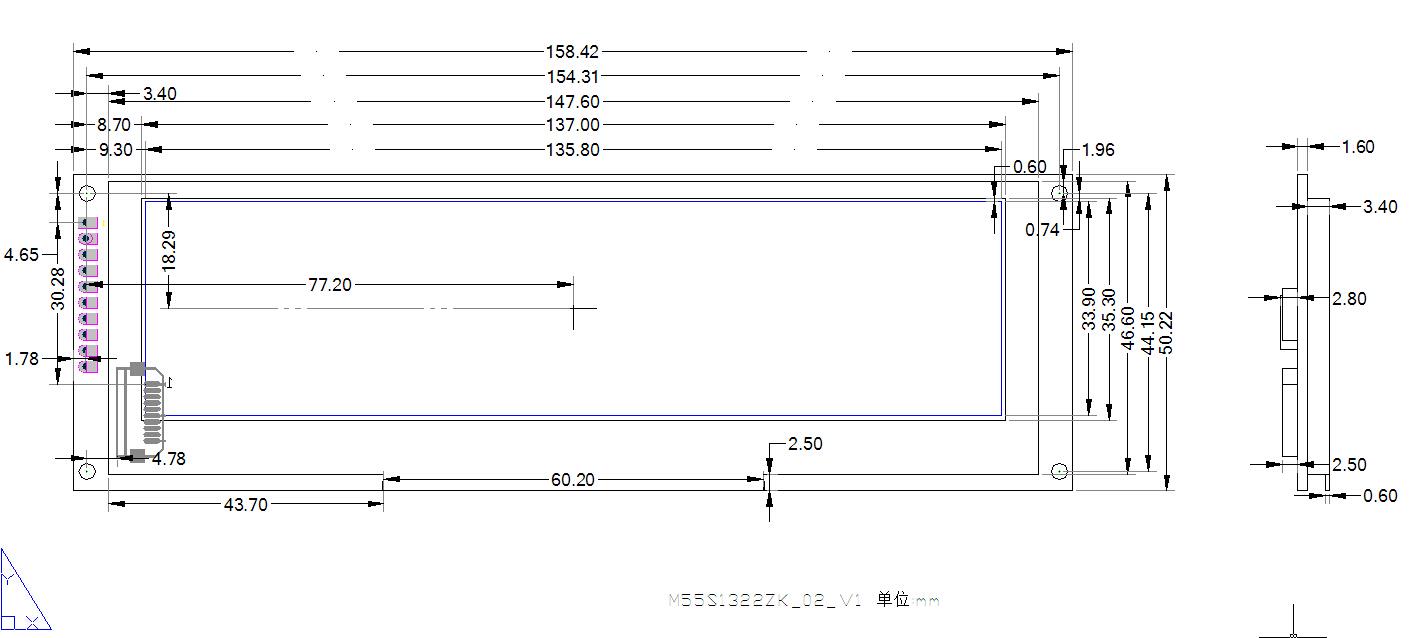 5.5寸oeld模块结构图