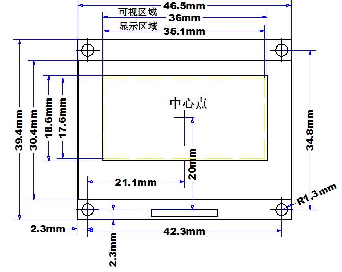 1.5寸oeld模块结构